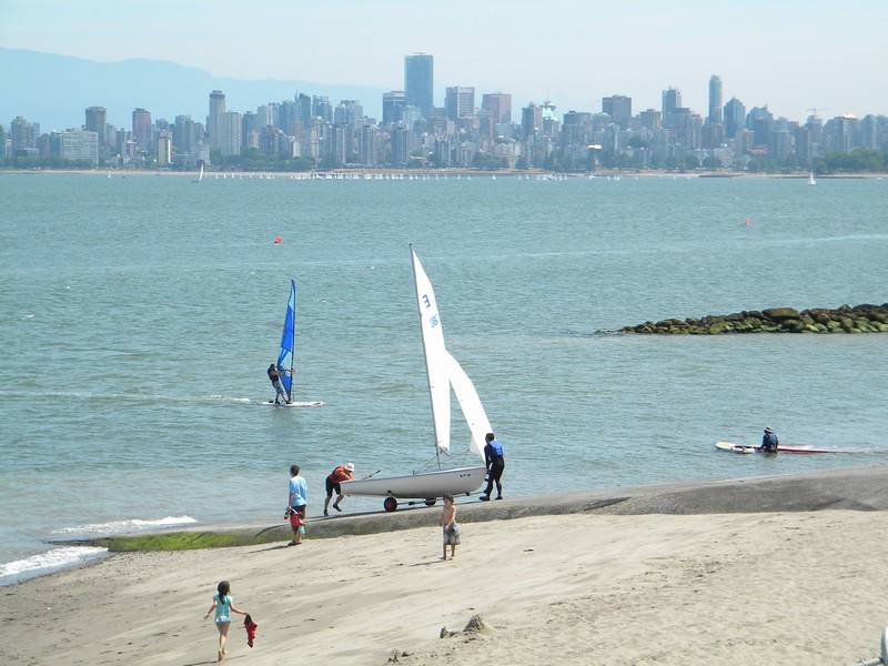 Vancouver, watersporten in de baai